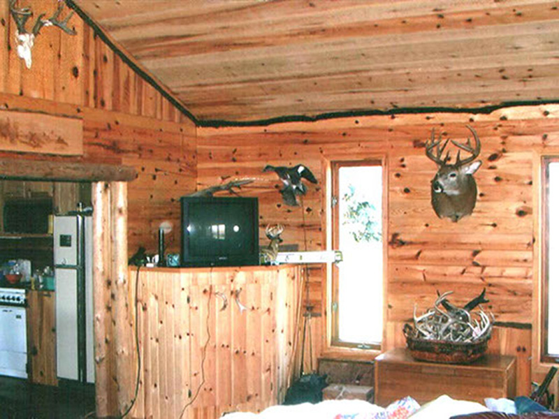 6 rustic pine tv